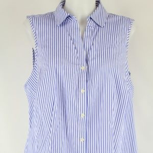 Charter Club Blue Stripe Tank Size 14W